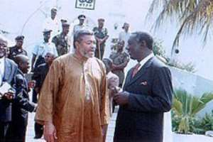 Kufuor, Rawlings in